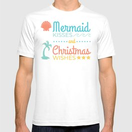 Mermaid Kisses and Christmas Wishes T-shirt