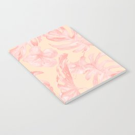 Tropical Dream Palm Leaves Pink and Coral Peach Notebook