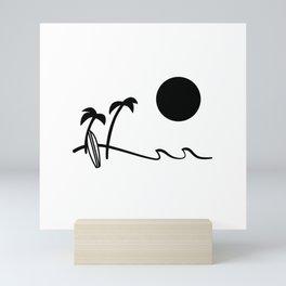 Afternoon surf  Mini Art Print