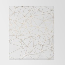 Geometric Gold Minimalist Design Throw Blanket