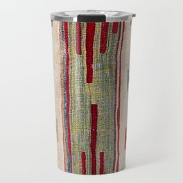 Arcade Star Kilim // 17th Century Colorful Muted Lime Green Southwest Cowboy Ornate Accent Pattern Travel Mug