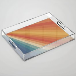 Retro 70s Sunrays Acrylic Tray