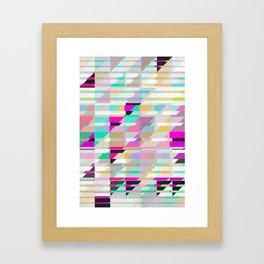 Geometric Deconstruct Framed Art Print