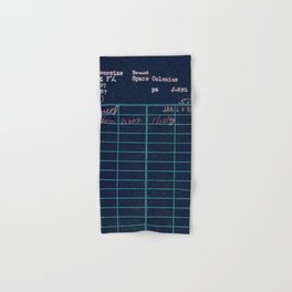 Library Card 797 Negative Hand & Bath Towel