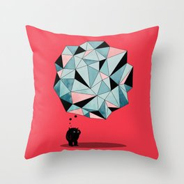 The Pondering Throw Pillow