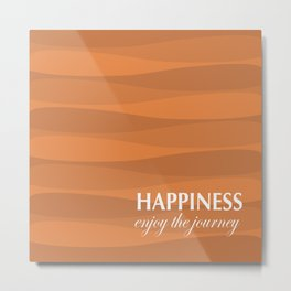 Orange for Happiness Metal Print