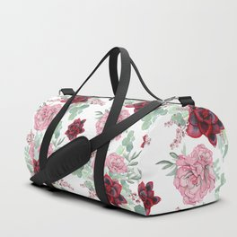 Succulents Pastel Red Pink Mint Green Pattern 2 Duffle Bag