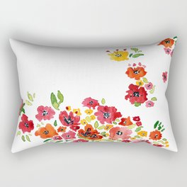 the daily creative project: romantic flowers Rectangular Pillow