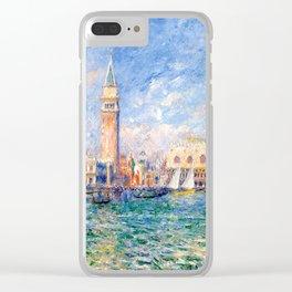 """Auguste Renoir """"Vue de Venise (Le Palais des Doges)"""" Clear iPhone Case"""