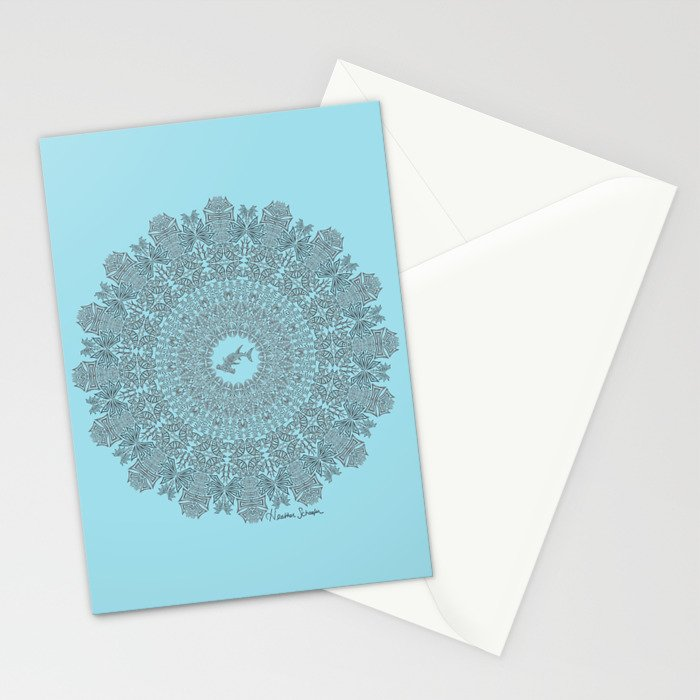 Tribal Hammerhead Shark Mandala Stationery Cards
