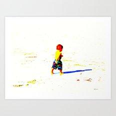 Straight Ahead to a Wonderful World! Art Print