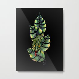 Viper Leaves III Metal Print