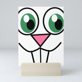 Cute Easter Bunny Face Mini Art Print