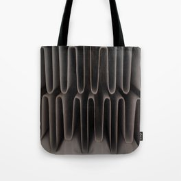 Industrial Waves | Metal Coils Abstract | Contemporary Art Tote Bag