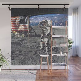 View of Earth From the Moon Wall Mural