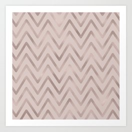 Mauve pink faux rose gold modern geometrical Art Print
