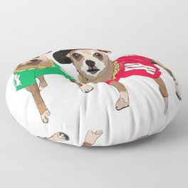 Chihuahua Dogs Run DMChi Floor Pillow