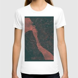 Liverpool Map Red T-shirt