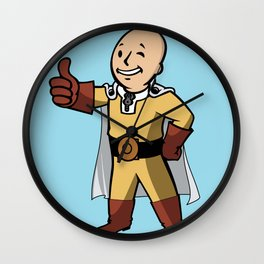 One punch boy - Parody Wall Clock