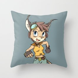 Caracal Girl: Design #3 Throw Pillow