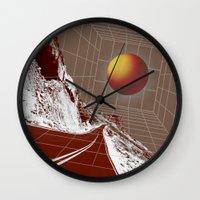 drive Wall Clocks featuring Drive by DM Davis