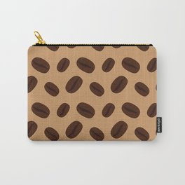 Cool Brown Coffee beans pattern Carry-All Pouch