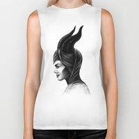 maleficent Biker Tanks featuring Maleficent  by Denda Reloaded