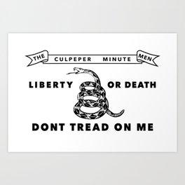 Culpeper Minutemen Flag - Authentic High Quality Art Print
