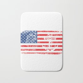 Never Underestimate An Old Man Who Defended Your Country U.S. Navy Veterans Design T-shirt Design Bath Mat