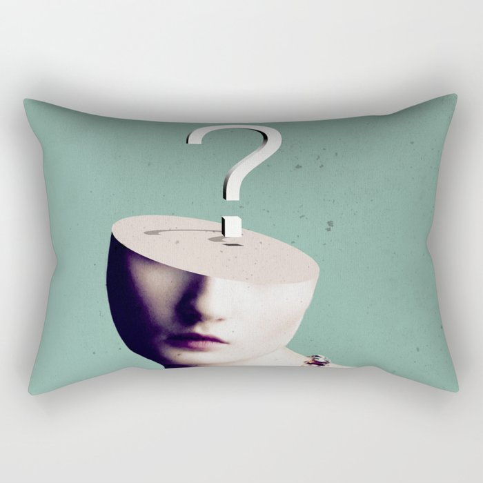 Doubt Rectangular Pillow