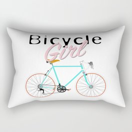 Bicycle Girl – June 12th – 200th Birthday of the Bicycle Rectangular Pillow