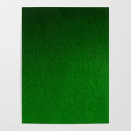 Emerald Green Ombre Design Poster