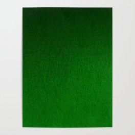 Emerald Green Ombre Design Poster