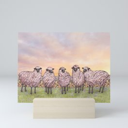 sunrise sheep Mini Art Print