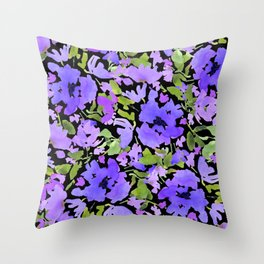 Periwinkle Bouquet Throw Pillow
