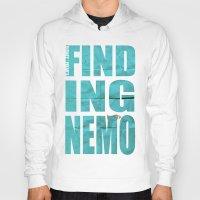 nemo Hoodies featuring Finding Nemo by Garrett McDonald