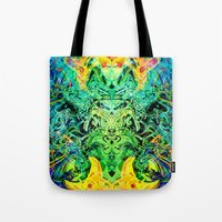 shiva Tote Bags featuring Shiva by Aleks7