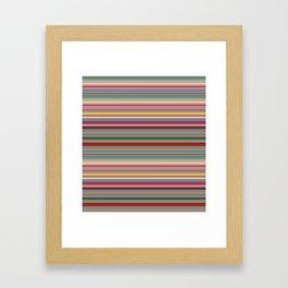 Colored lines Framed Art Print