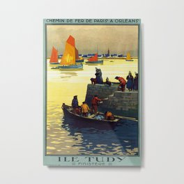 Ile Tudy-Finistere, French Travel Poster Metal Print