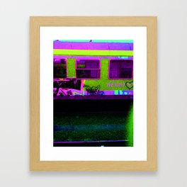 Working with Trains Framed Art Print