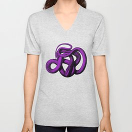 Snek 4 Snake Purple Blue Unisex V-Neck
