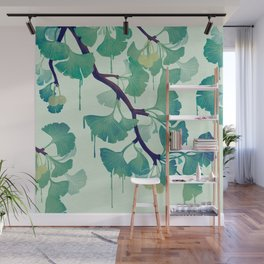 O Ginkgo (in Green) Wall Mural