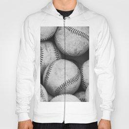 Baseballs Black & White Graphic Illustration Design Hoody