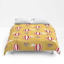 Hot air balloon pattern cute decor for boys or girls room Comforters