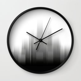 abstract city skyline - Black and white illustration Wall Clock
