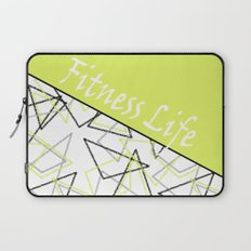 The fitness club . Sport . Lemon white creative sport pattern . Laptop Sleeve