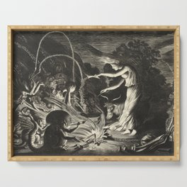 Witch - 17th Century Illustration Serving Tray
