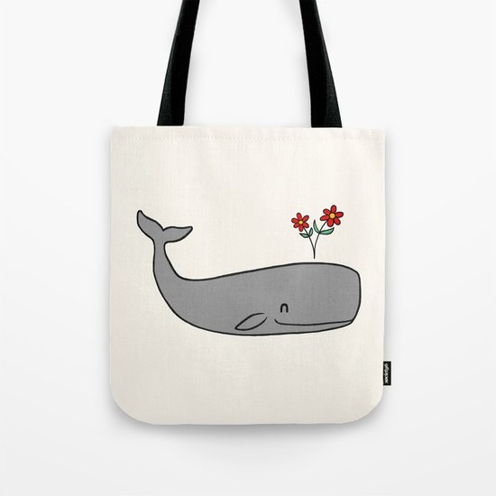 Peace Whale  Tote Bag