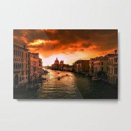 Venice, Italay at Sunset Photograph Metal Print