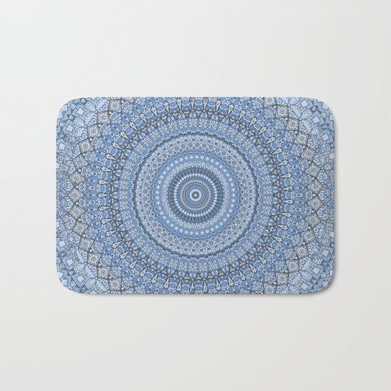 Blue Mandala Meditation Pattern Bath Mat